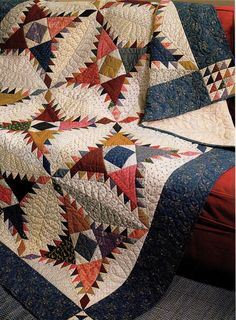 """Pine Burr Finished Size 65 1 4""""X83"""" Quilt Pattern Only 