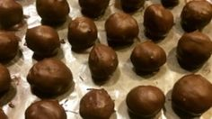 This is another recipe for Peanut Butter balls.  This one I got from my 96 year old neighbor, Mrs. Lucille Savage.  She still makes them at Christmas and now I do too.
