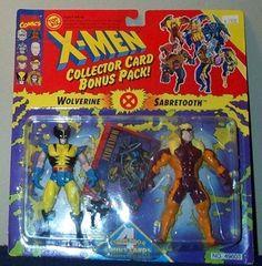 X-Men #Wolverine & Sabretooth Collector Card Bonus Pack Action Figures by Toy Biz  http://www.amazon.com/dp/B000BRHC8A/ref=cm_sw_r_pi_dp_nAjpsb0V9HFSA