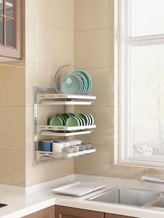 Kitchen Room Design, Home Decor Kitchen, Kitchen Furniture, Kitchen Interior, Diy Home Decor, Kitchen Ideas, Small Apartment Kitchen, Small Space Kitchen, Small Kitchens