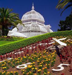"San Francisco - Golden Gate Park ""Conservatory Of Flowers & Field Clock"" | Flickr - Photo Sharing!"