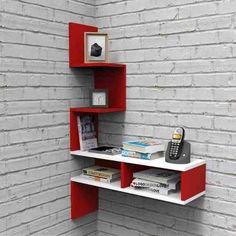 Home Decor Shelves, Wall Shelf Decor, Home Decor Furniture, Home Decor Bedroom, Furniture Design, Corner Shelf Design, Bookshelf Design, Wall Shelves Design, Home Library Design