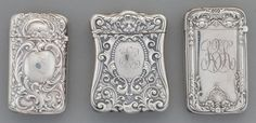 Silver Smalls:Match Safes, Three Gorham Silver Match Safes, Providence, Rhode...