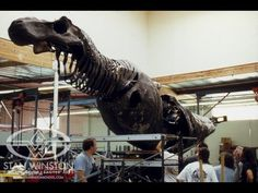 Behind the scenes of JURASSIC PARK's T-Rex. Building an Animatronic Dinosaur - Part 2. Special Effects by Stan Winston Studio.