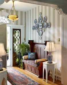 Foyer is the waiting room of a house. A foyer is usually adjacent to a living room. Guests usually need to wait first in the foyer before they finally can meet Entryway Furniture, Entryway Decor, Furniture Design, Entryway Ideas, Entryway Bench, Coastal Entryway, Coastal Interior, Furniture Ideas, Country Entryway