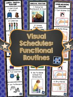 Arrival & Dismissal Routines, Hand-washing Routine, and Lunch/ Recess Routine!  Also includes key ring version!!