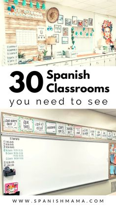 Get inspired by these Spanish classrooms and see how world language teachers are setting up and organizing their rooms. Esl Classroom, Dual Language Classroom, Bilingual Classroom, Bilingual Education, Montessori Classroom, History Classroom, Classroom Setup, Classroom Design, Science Classroom
