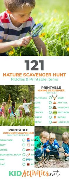 camp activities A collection of printable nature scavenger hunt lists for kids. Great for outdoor field trips, hiking, or taking the kids camping. Keep the kids engaged outdoors while they try to find the items on these lists. Camping Activities For Kids, Outdoor Activities For Kids, Camping Games, Camping Car, Camping With Kids, Family Activities, Camping Checklist, Summer Activities, Trip Games