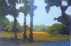 "Three Pines oil 4 x 6"" © Mary Bentz Gilkerson"