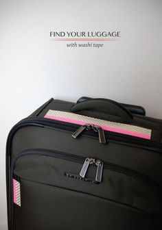 18 Useful DIY Traveling Projects- Luggage Identifier