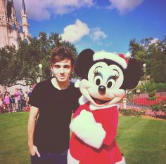 Nathan and Minnie Mouse