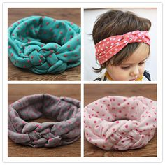 newborn baby girl cotton turbante fabric elastic hair band dots knot headband headwear turban hairband baby elastic headbands
