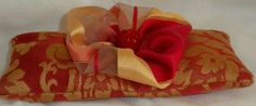 Organic French Lavender Sachet; Luxurious Red & Gold Lavender Pillow, Aromatherapy Gift, Valentine's Day Present, Sweetheart Gift $15 by DesignsbyChristine