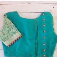 Beautiful Sari Blouse Design - The handmade craft Saree Jacket Designs, Blouse Designs High Neck, Cutwork Blouse Designs, Patch Work Blouse Designs, Simple Blouse Designs, Stylish Blouse Design, Blouse Designs Catalogue, Designer Blouse Patterns, Saree Blouse