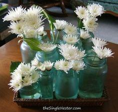 Mason jars with flowers by Tammy Carmichael