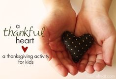 A Thankful Heart: A thanksgiving activity for kids