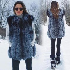 Women For Special Design Fit Real Farm Fox Fur Long Vest Piel De Zorro Female