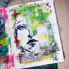 Art Journal Pages, Art Journal Backgrounds, Doodle Art Journals, Journal Themes, Junk Journal, Art Journaling, Journal Ideas, Face Art, Art Faces