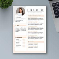 CV Design et Original à Télécharger - CV Word Premium Creative Cv Template, Resume Design Template, Creative Resume, Cv Words, Resume Words, Portfolio Web, Portfolio Resume, Portfolio Design, Beau Cv