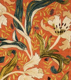 19th century Tulip Panel by May Morris http://www.embroiderersguild.com