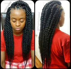 Chunky Senegalese Twists Neatly Done