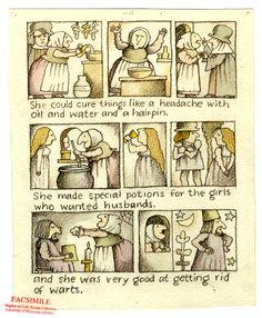 An original illustration from Tomie DePaola's Strega Nona.