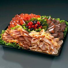 30 Ideas For Meat Platter Presentation Veggie Tray Meat Cheese Platters, Deli Platters, Deli Tray, Meat Trays, Meat Platter, Sandwich Platter, Cheese Fruit, Meat Appetizers, Appetizer Recipes