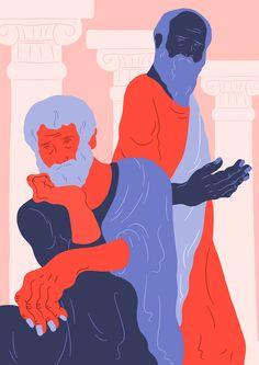 Plato & Aristotle on Behance