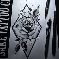 Dotwork Rose Design