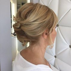 Messy French Roll Updo