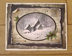 Shabby Snow Postcard by stiz2003 - Cards and Paper Crafts at Splitcoaststampers