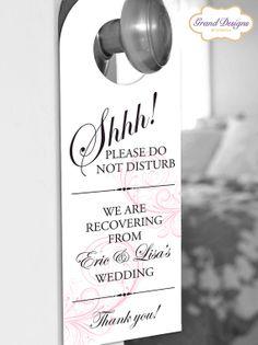 Classic Swirl Door Hanger for Wedding Hotel Welcome Bag - Do Not Disturb on Etsy, $0.95