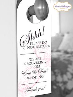 Love this do not disturb sign for your destination wedding guests!