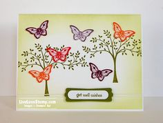 She rocked the Bitty Butterfly Punch (Stampin' Up! Spring Catalog), don't you agree?  Kim Czenszak, a member of Mary Fish's Stampin' Pretty Pals Community and today's Pals Guest Stamper, brought this card to life with colorful, artful touches and beautiful butterflies.  ♥♥♥