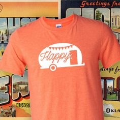Happy Camper T-shirt  Adventure camping by SuzySwedeCreative