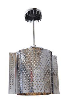 Chandelier made of washing machine drum
