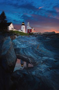 Pemaquid Lighthouse At Dawn is a photograph by David Smith. Source fineartamerica.com