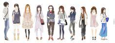 蚕蚕can - Xiamen Illustrators, Girl Fashion, Illustration Art, Pictures, Outfits, Image, Doll, Anime, Women's Work Fashion