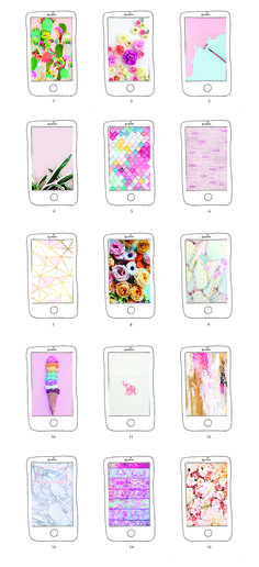 Here's our roundup of our 15 Favorite iPhone Wallpaper Free Downloads. From flowers, to abstract painting to desert cactuses, it's all about pink.