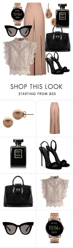 """""""working hours"""" by emmmy88 on Polyvore featuring Lord & Taylor, Cushnie Et Ochs, Chanel, Giuseppe Zanotti, Louis Vuitton, Chicwish and FOSSIL"""