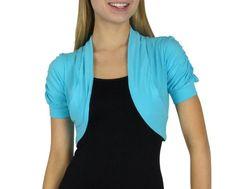 Smooth Fashion Women's Bolero Shrug Cardigan (Medium, Aqua) Smooth Fashion,http://www.amazon.com/dp/B00DBGURW6/ref=cm_sw_r_pi_dp_ZvEwtb0G5875DE6A