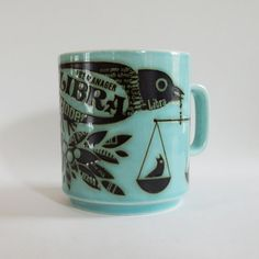Libra John Clappison Hornsea Mug Hornsea Pottery, Pottery Mugs, Coffee Snobs, Coffee Mugs, Vintage Style, Retro Vintage, I Love Coffee, Birthday Fun, Retro Design