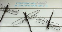 How to make unique dragonflies for your garden …using cast off materials, …bed posts, silverware, bottles and wire. Having a dragonfly in your garden must be a…