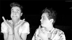 """This part of the video literally makes my life xD The way Sam looks at him like """"Dude wtf are you doing?"""" And how Kian literally doesn't care and ugh they're just the perfect of friends Kian Lawley Imagines, O2l Imagines, O2l Kian, Youtube Vines, Trevor Moran, Bae, Sam Pottorff, Ricky Dillon, Joey Graceffa"""