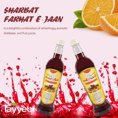 Sharbat Farhat-e-Jaan is a delightful combination of refreshingly aromatic distillates and fruit juices. It instantly rehydrates the body and refreshes the mind.  Visit your nearest store http://tayyebi.com.pk/sharbat/sharbat-farhat-e-jaan #TayyebiDawakhana #Sharbat #FarhateJaan #NaturalSharbat #HealthyLifestyle #RefreshingDrink #DrinkForSummers #SoothingEffect