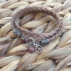 Boho Braided Suede Wrap Bracelet// Custom Tibetan by DesignsbyNoa