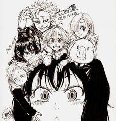Nanatsu no taizai * семь смертных грехов * 7 the seven deadl Seven Deadly Sins Anime, 7 Deadly Sins, Anime Demon, Manga Anime, Fairy Tail, Chibi, Meliodas And Elizabeth, Kamigami No Asobi, 7 Sins