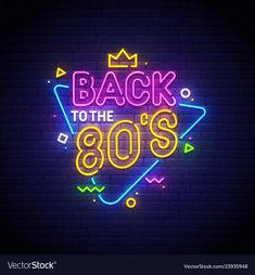 neon neon sign Royalty Free Vector Im - Vaporwave, 80s Logo, Tableau Pop Art, 80s Neon, New Retro Wave, Back To The 80's, 80s Theme, Neon Aesthetic, Neon Wallpaper