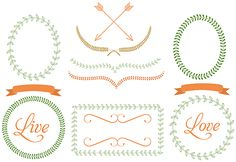 Free Frame Borders Clip Art Images - Vector Graphics - Laurel Wreath Photo Frames