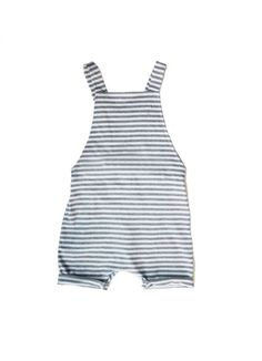 Organic Salopette Shortleg / Striped - BABY BOY - Products…